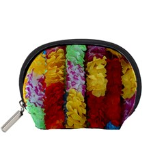 Colorful Hawaiian Lei Flowers Accessory Pouches (Small)
