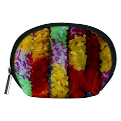 Colorful Hawaiian Lei Flowers Accessory Pouches (Medium)