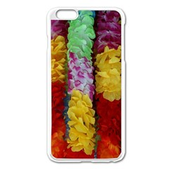 Colorful Hawaiian Lei Flowers Apple Iphone 6 Plus/6s Plus Enamel White Case