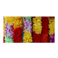 Colorful Hawaiian Lei Flowers Satin Wrap