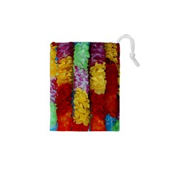 Colorful Hawaiian Lei Flowers Drawstring Pouches (XS)