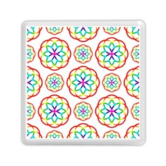 Geometric Circles Seamless Rainbow Colors Geometric Circles Seamless Pattern On White Background Memory Card Reader (square)
