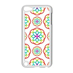Geometric Circles Seamless Rainbow Colors Geometric Circles Seamless Pattern On White Background Apple Ipod Touch 5 Case (white)