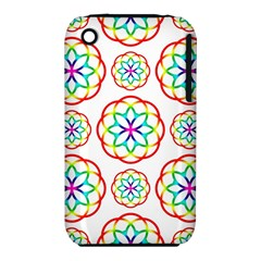 Geometric Circles Seamless Rainbow Colors Geometric Circles Seamless Pattern On White Background iPhone 3S/3GS