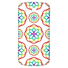 Geometric Circles Seamless Rainbow Colors Geometric Circles Seamless Pattern On White Background Samsung Galaxy S3 S Iii Classic Hardshell Back Case