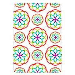 Geometric Circles Seamless Rainbow Colors Geometric Circles Seamless Pattern On White Background Flap Covers (L)