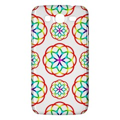 Geometric Circles Seamless Rainbow Colors Geometric Circles Seamless Pattern On White Background Samsung Galaxy Mega 5.8 I9152 Hardshell Case