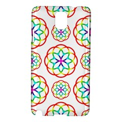 Geometric Circles Seamless Rainbow Colors Geometric Circles Seamless Pattern On White Background Samsung Galaxy Note 3 N9005 Hardshell Case