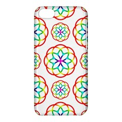 Geometric Circles Seamless Rainbow Colors Geometric Circles Seamless Pattern On White Background Apple iPhone 5C Hardshell Case