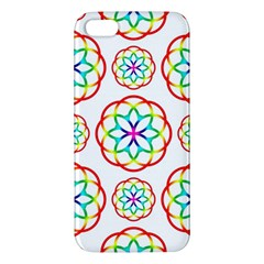 Geometric Circles Seamless Rainbow Colors Geometric Circles Seamless Pattern On White Background Iphone 5s/ Se Premium Hardshell Case