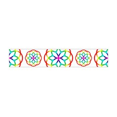 Geometric Circles Seamless Rainbow Colors Geometric Circles Seamless Pattern On White Background Flano Scarf (Mini)