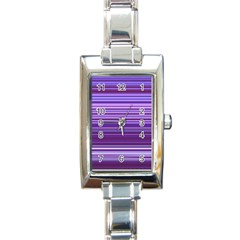 Stripe Colorful Background Rectangle Italian Charm Watch