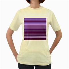 Stripe Colorful Background Women s Yellow T Shirt