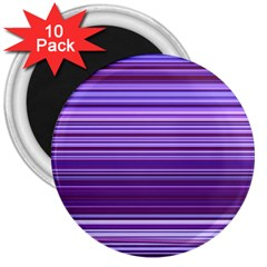 Stripe Colorful Background 3  Magnets (10 Pack)