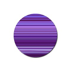 Stripe Colorful Background Rubber Round Coaster (4 Pack)