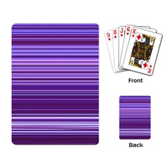 Stripe Colorful Background Playing Card