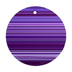 Stripe Colorful Background Round Ornament (two Sides)
