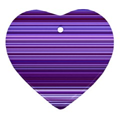 Stripe Colorful Background Heart Ornament (Two Sides)