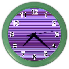 Stripe Colorful Background Color Wall Clocks
