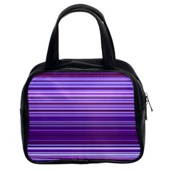 Stripe Colorful Background Classic Handbags (2 Sides)