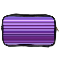 Stripe Colorful Background Toiletries Bags 2 Side