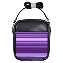 Stripe Colorful Background Girls Sling Bags