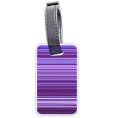 Stripe Colorful Background Luggage Tags (one Side)