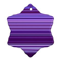 Stripe Colorful Background Ornament (snowflake)