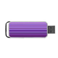 Stripe Colorful Background Portable Usb Flash (one Side)