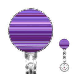 Stripe Colorful Background Stainless Steel Nurses Watch