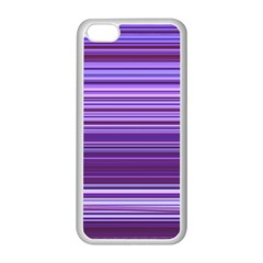 Stripe Colorful Background Apple iPhone 5C Seamless Case (White)