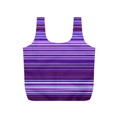 Stripe Colorful Background Full Print Recycle Bags (S)