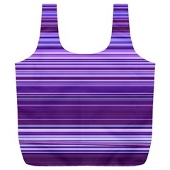 Stripe Colorful Background Full Print Recycle Bags (l)