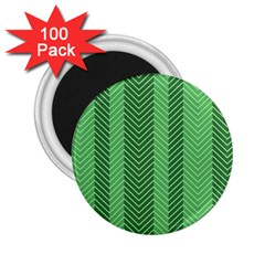 Green Herringbone Pattern Background Wallpaper 2 25  Magnets (100 Pack)