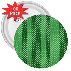 Green Herringbone Pattern Background Wallpaper 3  Buttons (100 Pack)