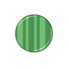 Green Herringbone Pattern Background Wallpaper Hat Clip Ball Marker (4 pack)
