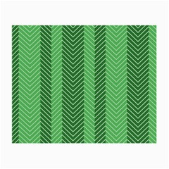 Green Herringbone Pattern Background Wallpaper Small Glasses Cloth (2 Side)
