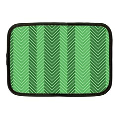 Green Herringbone Pattern Background Wallpaper Netbook Case (medium)