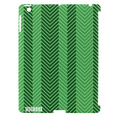 Green Herringbone Pattern Background Wallpaper Apple iPad 3/4 Hardshell Case (Compatible with Smart Cover)