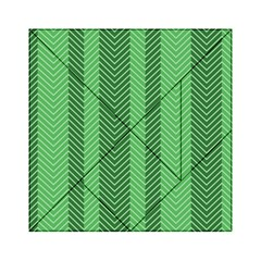 Green Herringbone Pattern Background Wallpaper Acrylic Tangram Puzzle (6  x 6 )