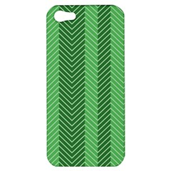 Green Herringbone Pattern Background Wallpaper Apple iPhone 5 Hardshell Case