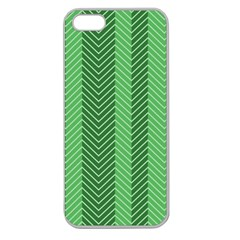 Green Herringbone Pattern Background Wallpaper Apple Seamless iPhone 5 Case (Clear)
