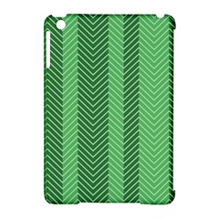 Green Herringbone Pattern Background Wallpaper Apple iPad Mini Hardshell Case (Compatible with Smart Cover)