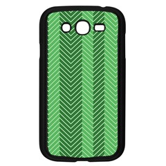 Green Herringbone Pattern Background Wallpaper Samsung Galaxy Grand DUOS I9082 Case (Black)