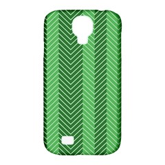 Green Herringbone Pattern Background Wallpaper Samsung Galaxy S4 Classic Hardshell Case (PC+Silicone)