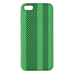 Green Herringbone Pattern Background Wallpaper Iphone 5s/ Se Premium Hardshell Case