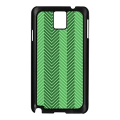 Green Herringbone Pattern Background Wallpaper Samsung Galaxy Note 3 N9005 Case (Black)