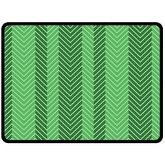 Green Herringbone Pattern Background Wallpaper Double Sided Fleece Blanket (Large)