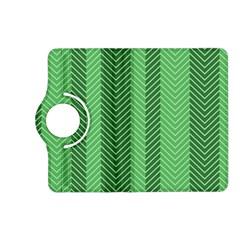 Green Herringbone Pattern Background Wallpaper Kindle Fire HD (2013) Flip 360 Case