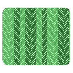 Green Herringbone Pattern Background Wallpaper Double Sided Flano Blanket (Small)